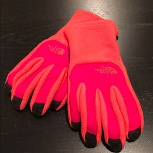 North Face Warm Athletic Gloves